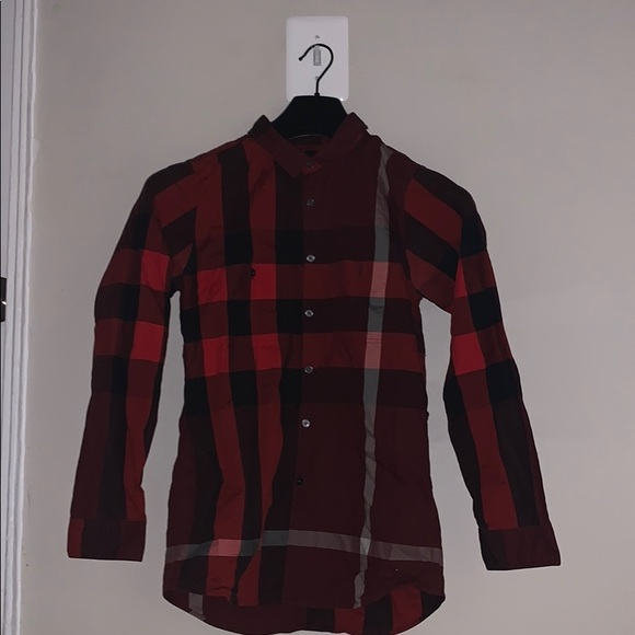 Burberry Other - Red Checkered Burberry Shirt!